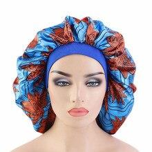 Helisopus – Bonnet de nuit Extra Large à motif africain, couvre-tête en Satin pour Salon de beauté, vente en gros