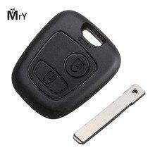 2 Buttons Uncut Blade Remote Car Key Refit Cover Case Shell For CITROEN C1 C2 C3 C4 C5 C8 Xsara Picasso