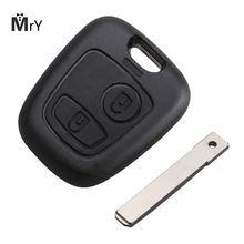 2 кнопки удаленное лезвие Автомобильный ключ чехол для citroen