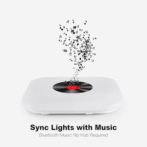 Image 4 - Modern intelligent LED ceiling light, APP control Bluetooth speaker RGB dimmable 36W/52W living room bedroom lighting 110V/220V