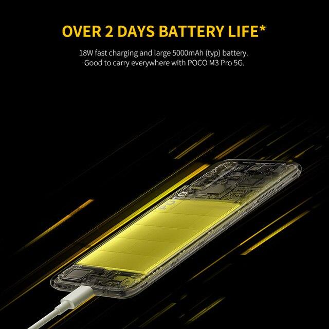 POCO M3 Pro 5G Global Version NFC Smartphone 4+64/6+128 Dimensity 700 Octa Core 90Hz FHD+DotDisplay 5000mAh 48MP Triple Camera 6