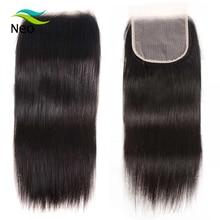 4x4 прозрачное кружевное закрытие с детскими волосами 10А девственные бразильские Прямые Закрытие 10 22 дюйма