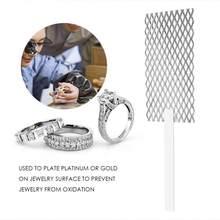 Placage de bijoux en titane polarisé à mailles, en Rhodium, outil de bijouterie, maille avec poignée, outil de bijouterie, offre spéciale 20*5cm