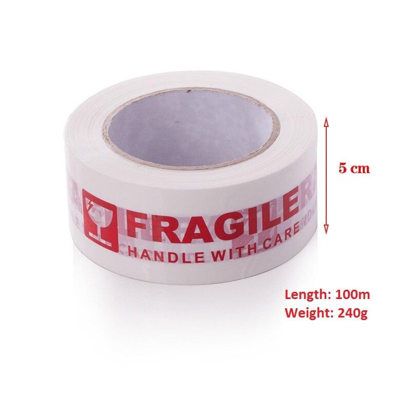 5cm*100m White FRAGILE Packing Tape Warning Bopp Fragile Tape