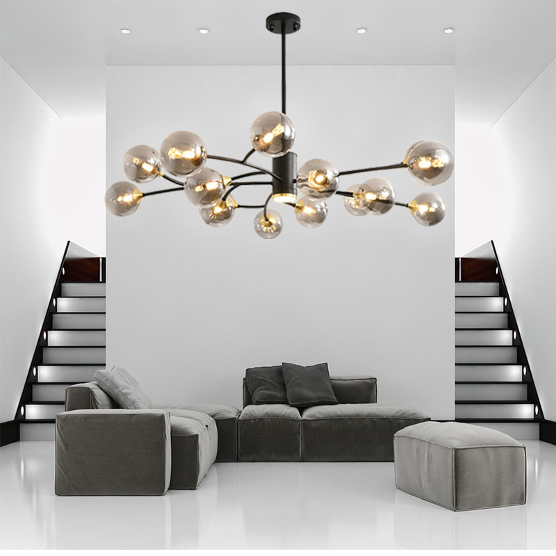 Modern Tree Branch Chandelier Lighting Decor Glass Ball Light Fixture Nordic Suspension Hanging Lights Lusters Luminaire Lampara Special Promo 7b6d Cicig