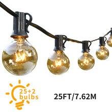 Гирлянда G40 Globe с 25 прозрачными лампами, подвесная внутренняя Рождественская гирлянда для улицы, для свадьбы, гирлянда, украшения
