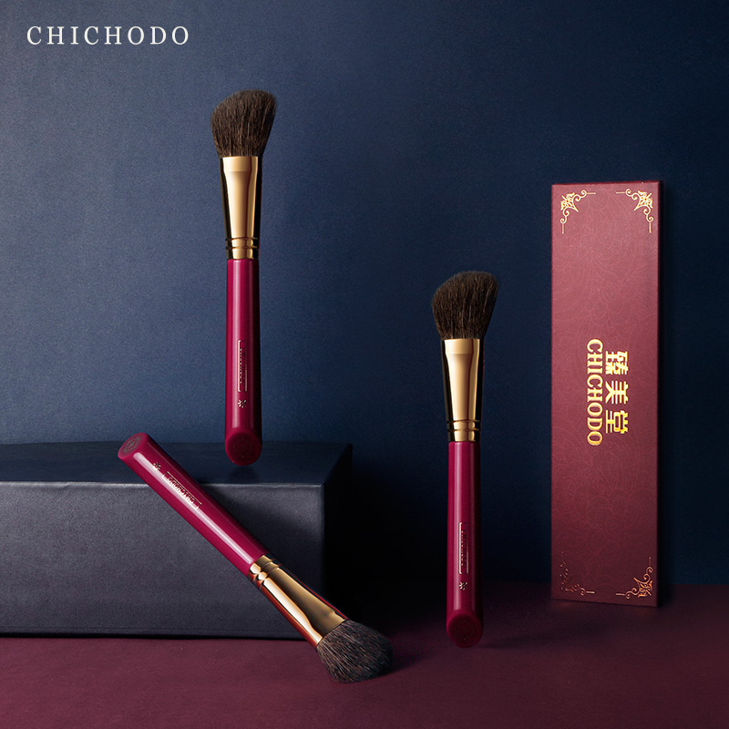 CHICHODO makeup brush-Luxurious Red Rose series-high quality gray rat&horse hair bronzer brush-face cosmetic tool-natural hair