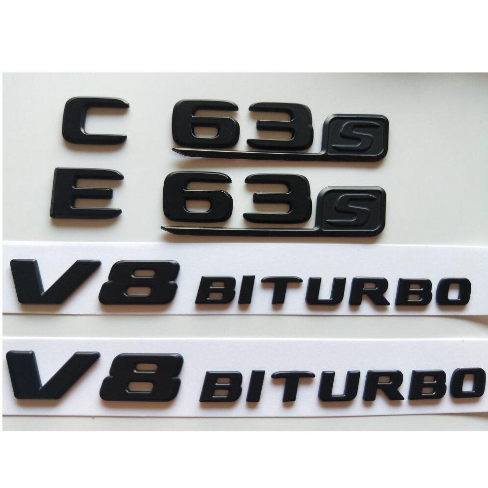Gloss Black E350 Rear Emblem Boot Badge Letter Number Sticker Compatible For E Class W210 W211 W212