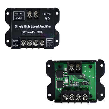 RGBWW High Speed Amplifier Data Signal Repeater DC5V 12V 24V Single color/RGB/RGBW/RGB+CCT 1/3/4 CH Dimmer Power Amplifier