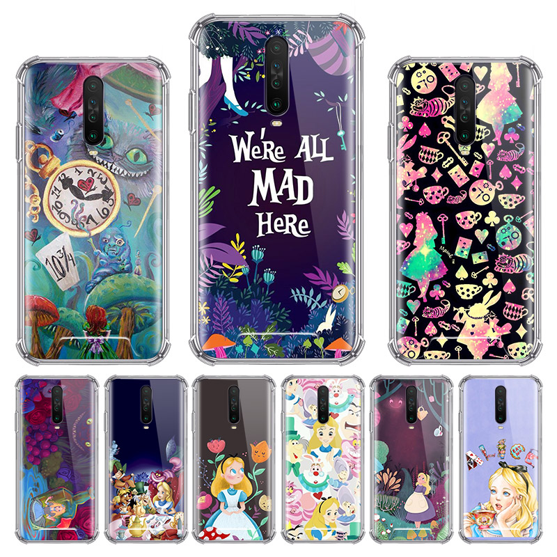 Alice In Wonderland Case For Xiaomi Redmi Note 8T 9 Pro Max 8 9S 7 6 7A 6A K20 K30 Pro Zoom Airbag Anti Sac Phone Shell
