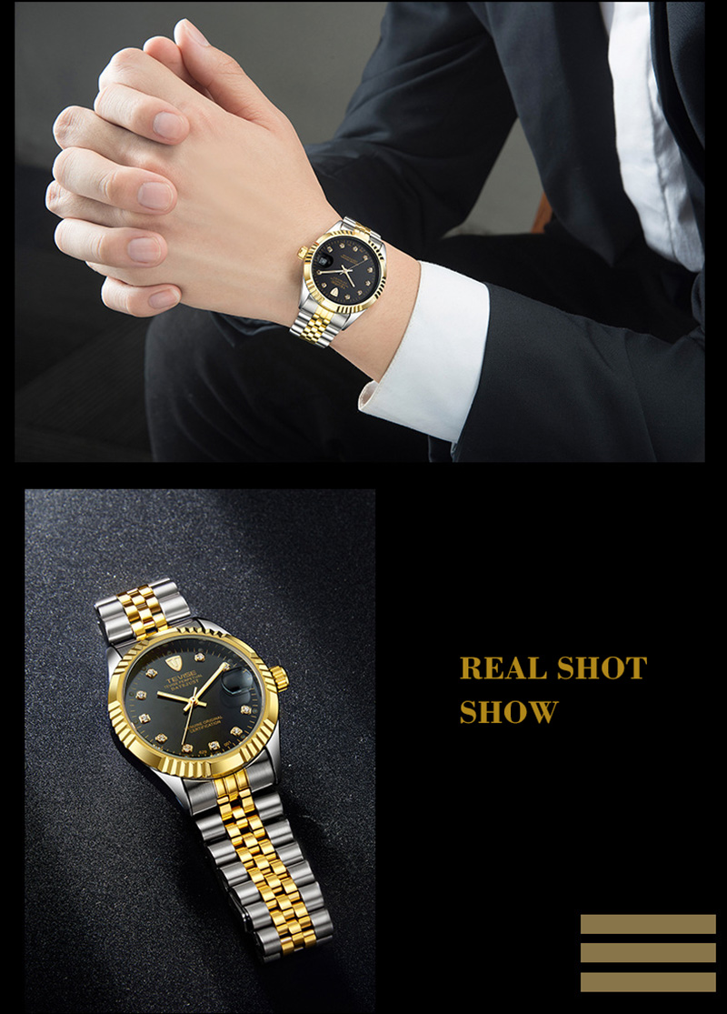 H0066a6badf064bc094250bd750be591d1 TEVISE Mens Watch Fashion Luxury Wristwatch Waterproof Semi-automatic Mechanical Watch Luminous Sport Casual relogio Watch