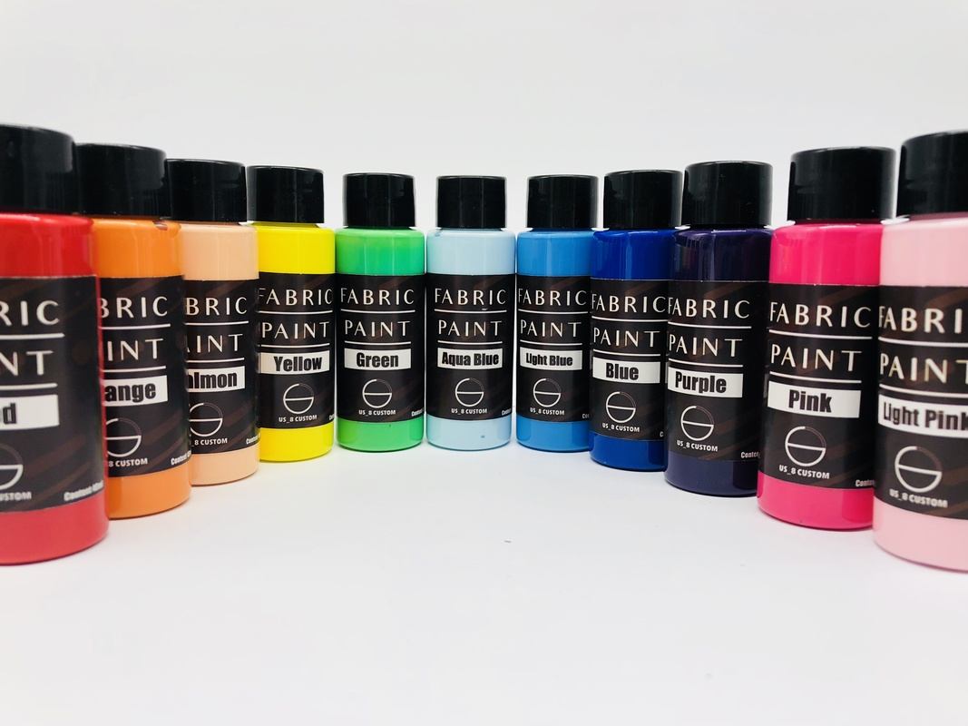 21colors Canvas Textile Pigment Sneakers Shoe Clothes Bag Suede Chammy Dyeing Coloring Change 40ml/bottle Airbrush Painting