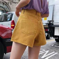 2019 летние женские модные короткие свободные хлопковые широкие шорты конфетного цвета повседневные шорты женские s плюс размер S-L