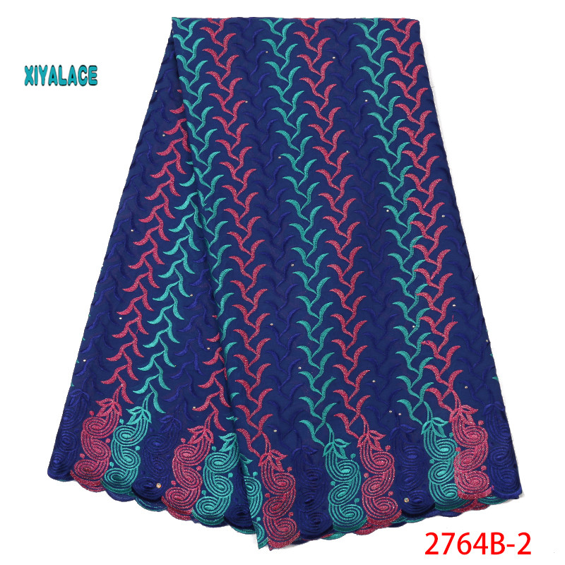 Best Selling Swiss Voile Laces African Fabric Nigerian French Fabric High Quality Men And Women Tulle Cord Lace Fabric YA2764B-2