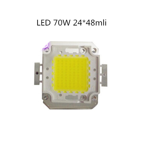 1-20 шт./лот, светодиодный чип 70 Вт, чистый белый холодный свет, 70 Вт, 24х48, светодиодный чип высокой мощности, светодиодный бусина 1750 мА 7200 лм 32-34 ...