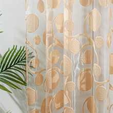 Topfinel Circle Geometric Modern Sheer Curtain Panel for Living Room the Bedroom Kitchen Blinds Window Treatment Draperies Decor
