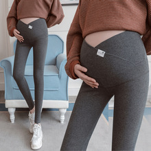 Across V Low Waist Belly Cotton Maternity Legging Spring Casual Skinny Pants Clothes for Pregnant Women Autumn Pregnancy
