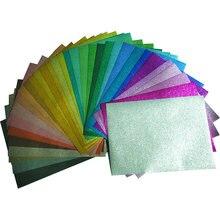 10 unids/bolsa de purpurina para manualidades, tejido de costura no tejido, brillante, 20x30cm