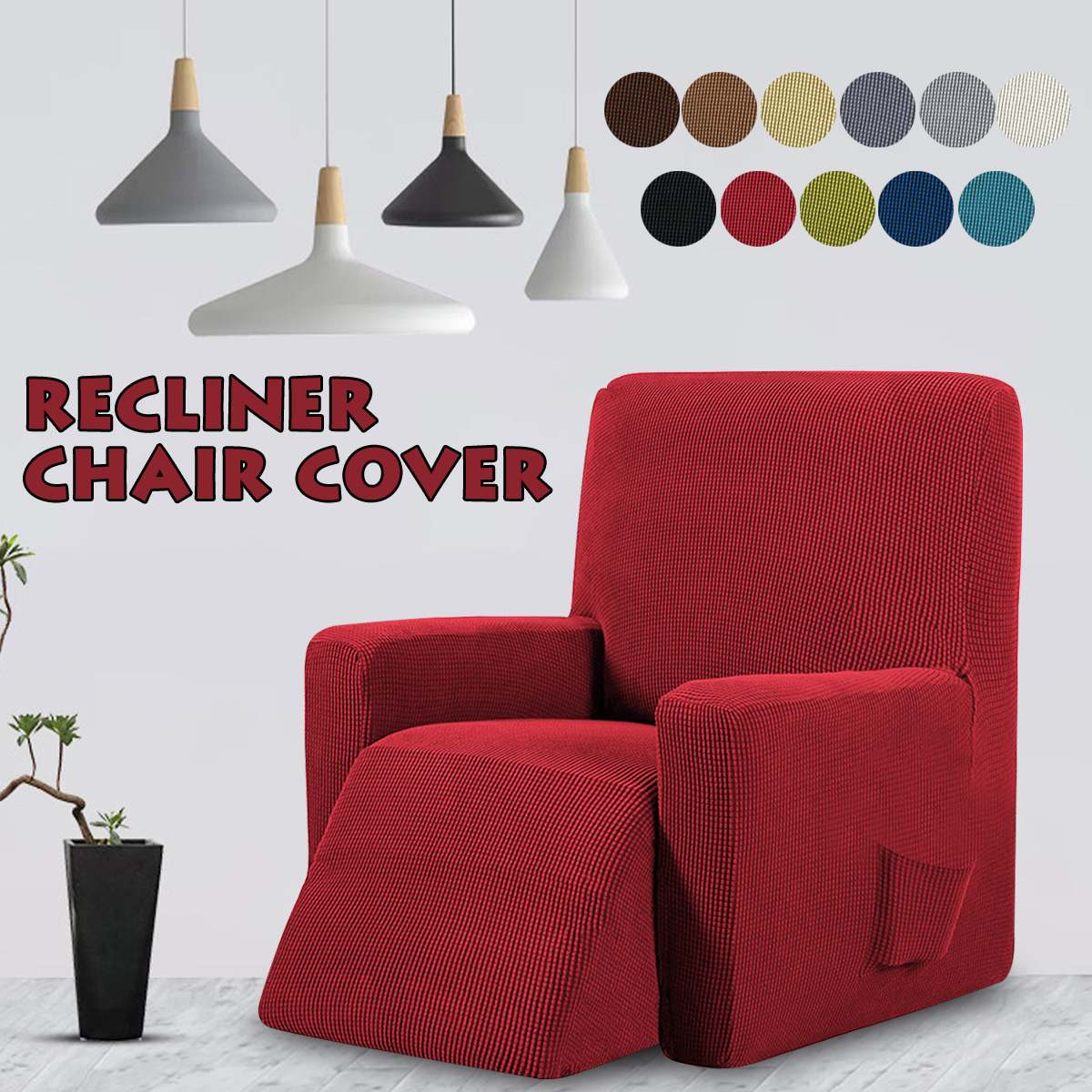 Recliner Chair Sofa Slipcover Stretch Fit Furniture Single Chair Protector Cover