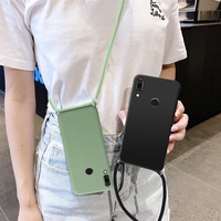 Custodia con cordino per collana a catena con cordino per Huawei P10 P20 P30 P40 Lite P50 Pro P8 Lite 2017 Mate 30 20 10 Lite P Smart 2019 2020