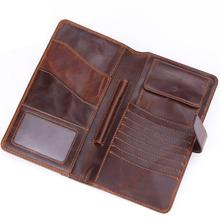 Portfele męskie portfele długie Hasp oryginalne skórzane męskie kopertówki z uchwyt na telefon komórkowy wysokiej jakości prawdziwe skórzane etui na karty portfel tanie tanio berchirly Prawdziwej skóry Skóra bydlęca 0 15kg Poliester 19cm Natural Real Leather Stałe Moda WT0190 Kieszonka na monety