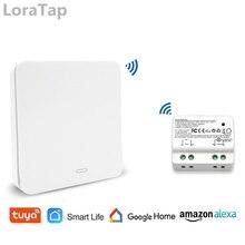 Tuya Smart Life WiFi Switch with RF Kinetic Self Powered Remote Control Wireless Switch Alexa Echo