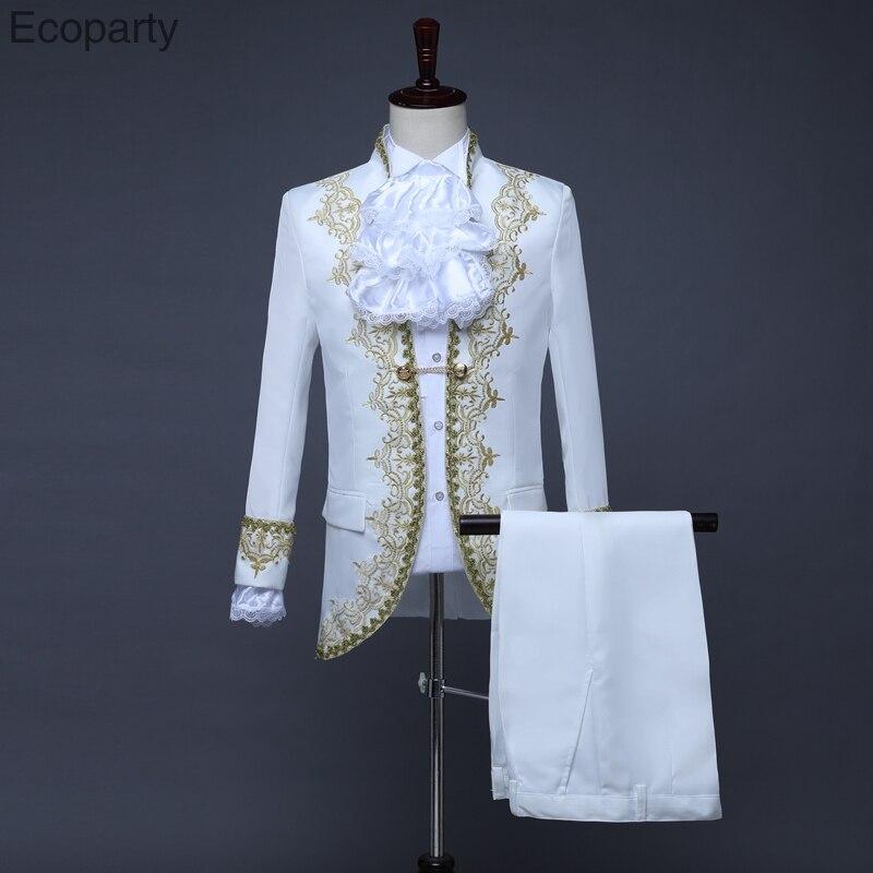 Pantalones para hombre steampunk victoriana Fancy Dress Costume Pantalones marrones Calzones