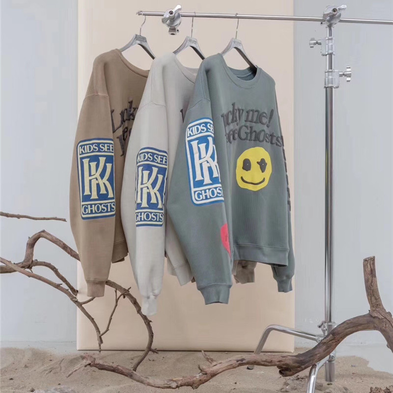 Kanye West KIDS SEE GHOSTS Hoodies Men Women 1:1 Casual High Quality Ghost Patch CPFM Streetwear Hip Hop Kanye West Sweatshirts