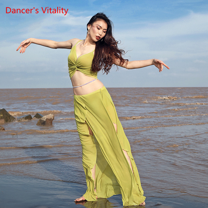 Belly Dance Practice Clothes 2019 New Suit Women Sense Strap Dress Summer Beginner Competition Costume
