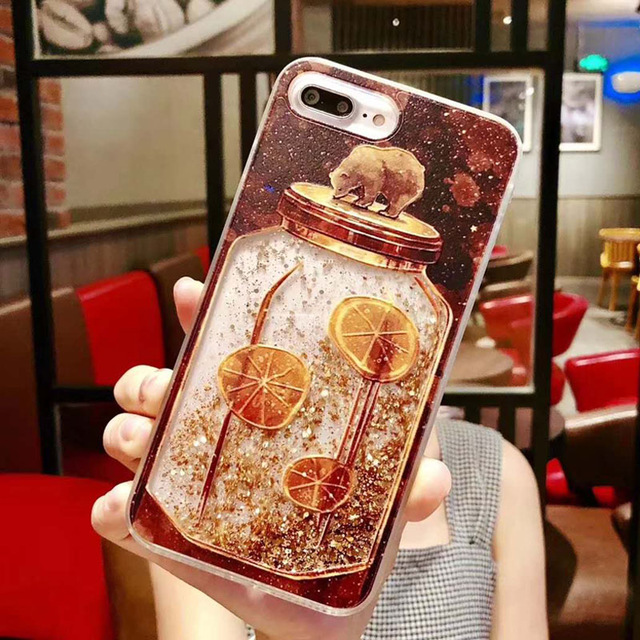 Brown Bear Quicksand Phone Case For Xiaomi Redmi Note 4 4A 4X 5 5A 6 6A A2 7 7A 8 K20 9T Lite Pro Plus Protective Cover Case