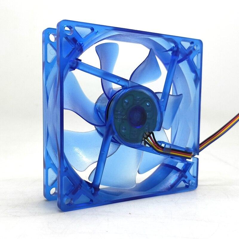 Ventilador enfriador de cpu LED de 92mm pwm 90mm 9cm 92X92X25mm luminoso 12V 1800RPM enfriador de luz azul