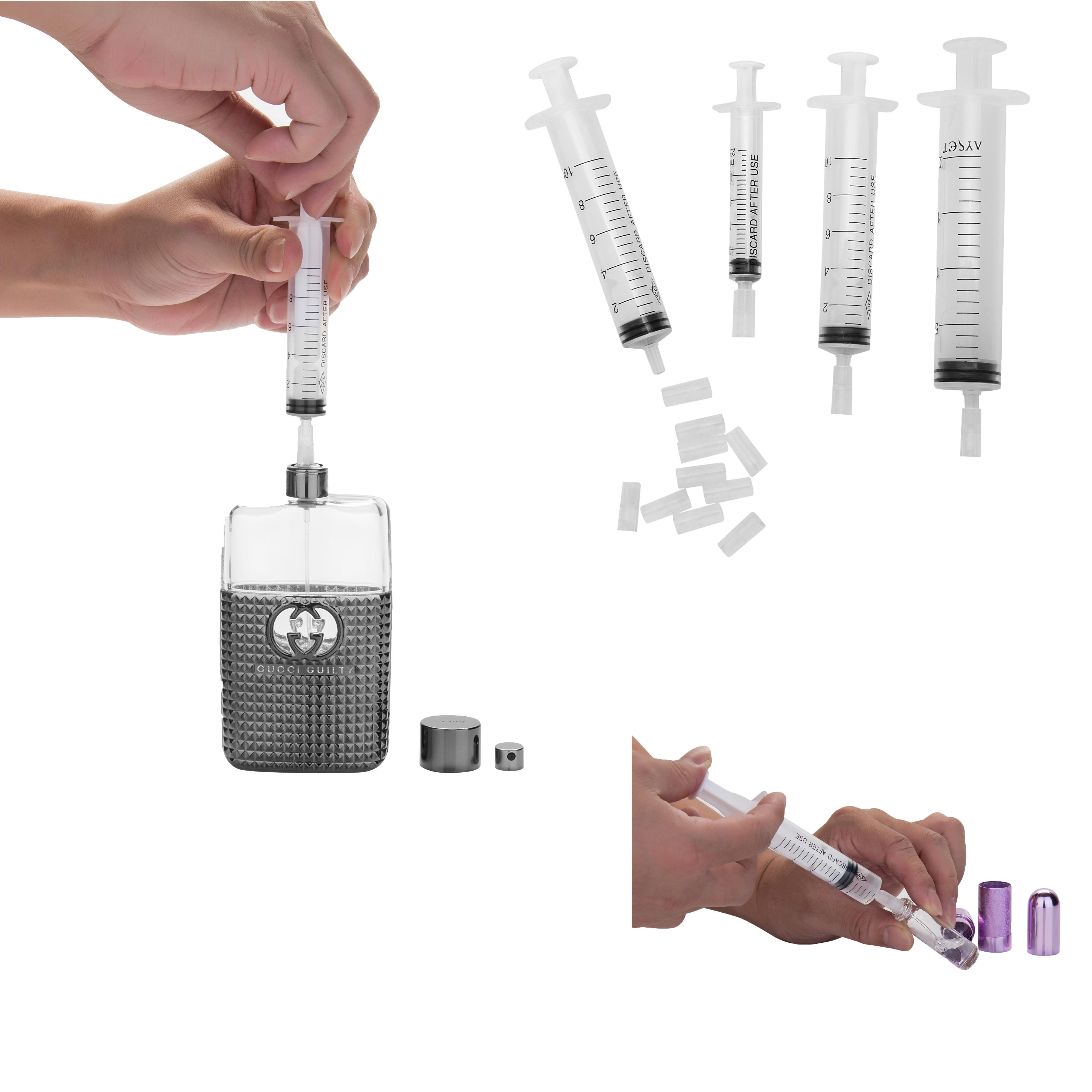 10pcs/lot 10ml Syringe Plastic Perfume Dispenser Tools Refill Perfume Syringe For Refillable Bottle Quantitative Dispensing