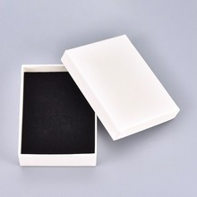 Cardboard Jewelry Box Gift Cardboard Boxes for Ring Necklace Earring Jewelry Gifts Packaging with Black Sponge Inside 18pc/24pc