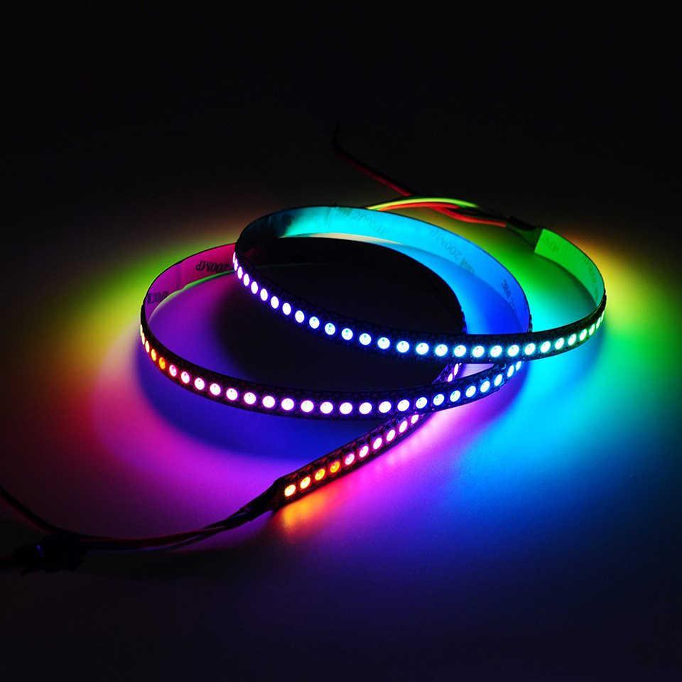 WS2812B WS2812 RGB LED Strip Lampu Tahan Air Secara Terpisah Addressable Smart RGB LED Light untuk Dekorasi Rumah Natal 1 M- 5 M