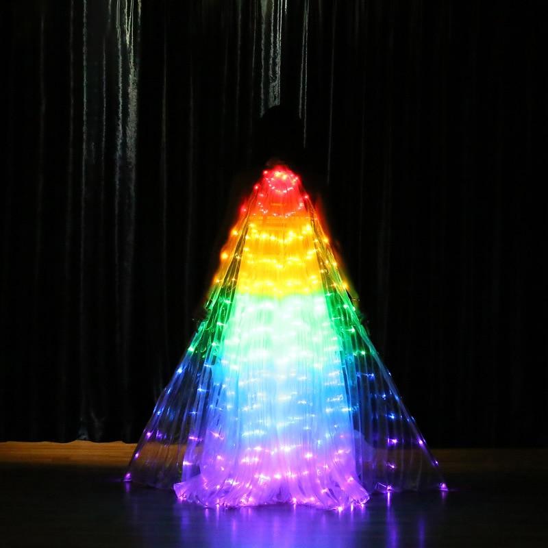 Ruoru arc-en-ciel couleur hélas Angle Led ailes adulte Led Costume cirque lumière Led Costumes lumineux fête spectacle Isis ailes Dancewear