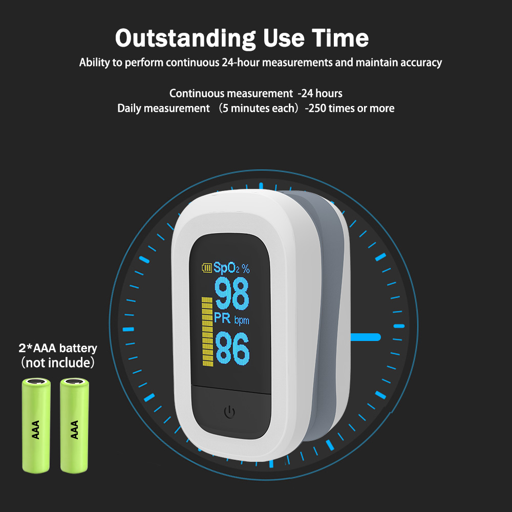 YONGROW Medical Fingertip Pulse with Sound and Light Alarm and OLED Display 9