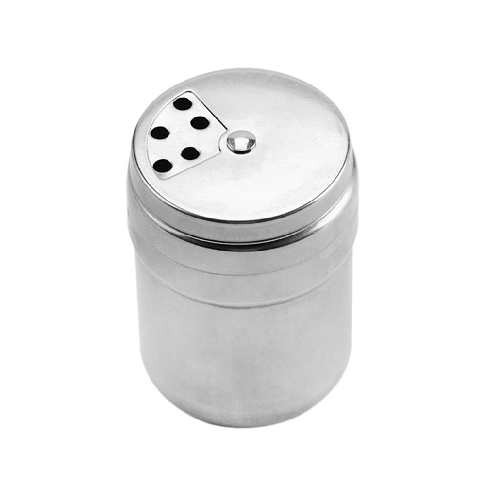 New Stainless Steel Seasoning Box Seasoning Jar Toothpick Holder Barbecue Pepper Pepper Pot Kitchen Dedicated