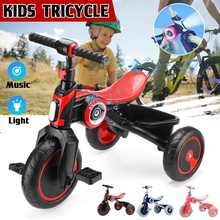 Kids Tricycle Pedal Trike Stroller Toddler Portable Travel Trolley Ride On Compact Trike 3 Colors Hot Sale