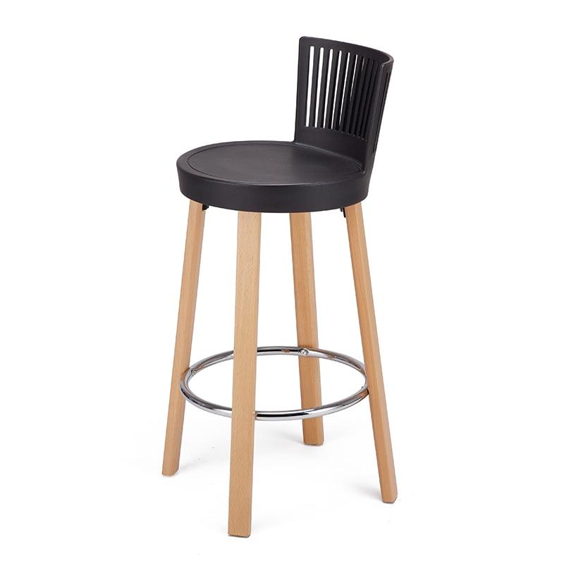 Nordic Solid Wood Bar Chair Designer Modern Minimalist  Stool Fashion   Home High Sgabelli Bar Stool