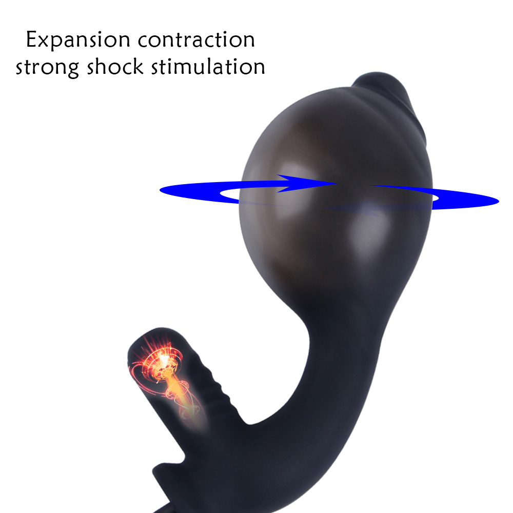 Inflatable Anal Dildo Vibrator For Men Anal G spot Stimulator Male Prostate Massager Big Butt Plug Anal Expansion Adult Sex Toys (3)