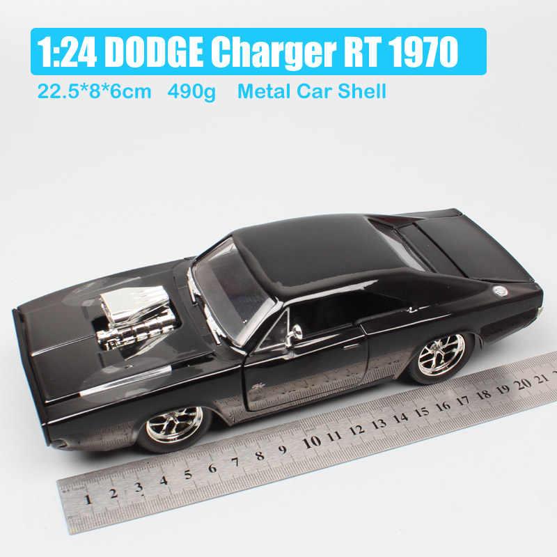 1/24 スケールビッグジェイダ Dom レーサーストリートかわす充電器 RT 1970 ダイキャスト車おもちゃモデルミニチュアグッズギフト
