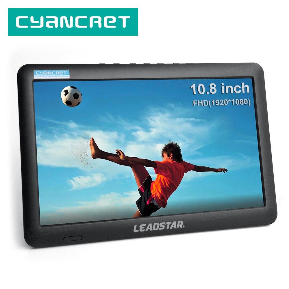 Портативный ТВ LEADSTAR, 10,8 дюйма, светодиодный мини-Телевизор с полным обзором, компактный автомобильный цифровой и аналоговый телевизор с под...