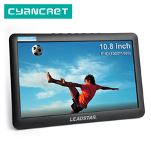 LEADSTAR DVB T2 Portable TV 10.8 inch Full view LED Television Mini Small Car Digital and Analog TV Support HDMI H.265 AC3