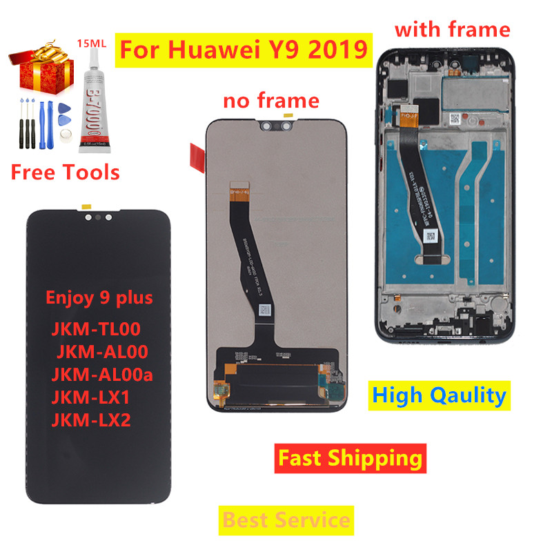 For <font><b>Huawei</b></font> <font><b>Y9</b></font> <font><b>2019</b></font> <font><b>LCD</b></font> Display Touch Screen Digitizer Assembly With Frame Replacement For <font><b>Huawei</b></font> <font><b>Y9</b></font> <font><b>2019</b></font> Enjoy 9 plus <font><b>LCD</b></font> Screen image
