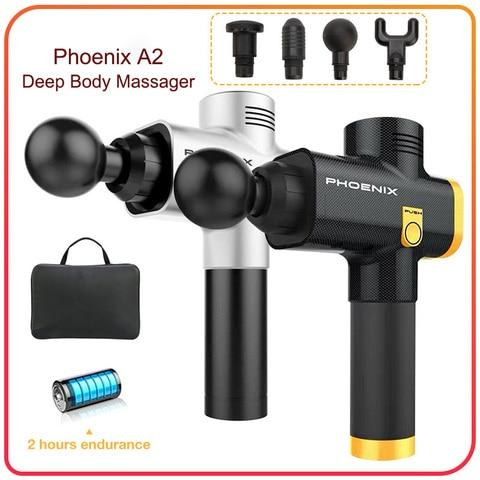 phoenix esporte profissional arma de massagem corpo eletronico massagem arma relaxamento alta vibracao massageador muscular