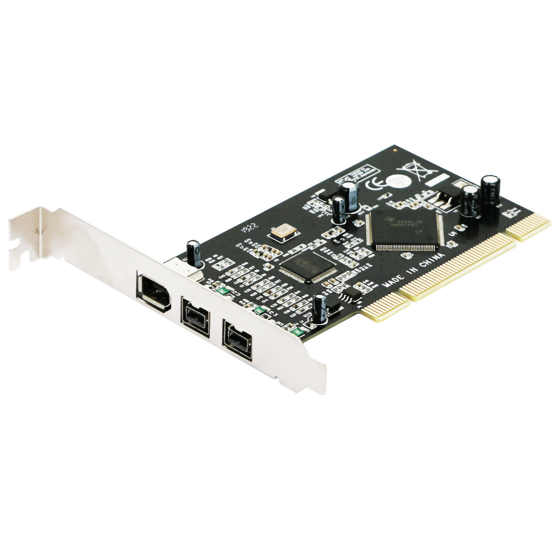 PCI Combo Add on Cards 2x <font><b>IEEE</b></font> <font><b>1394B</b></font> 9 Pin & 1x 1394A 6 Pin 1394 Extension Adapter PCI Controller Card for Firewire Destop PC image