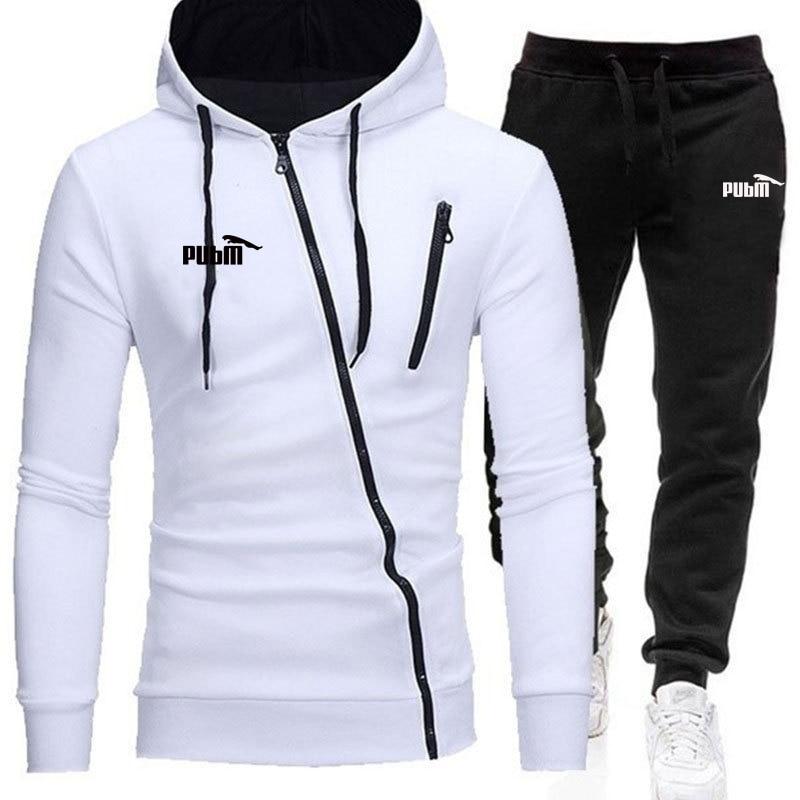 2020 Hoodies Set Men Autumn Casual Mens Tracksuit Hooded Hoody + Pants 2 Piece Men's Sportwear Pullovers Sets Male Outwear 4XL