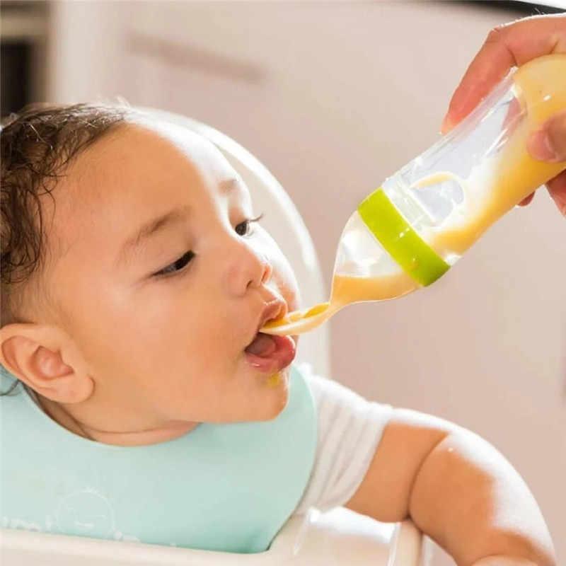 เด็กขวดขวดซิลิโคนบีบช้อนข้าวช้อนสำหรับเด็กจุกนมข้าวธัญพืช Pacifier อาหารแข็ง @ D