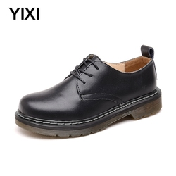 Yellow Threads 2020 Unisex Doc Women Shoes Womens Boots Martins Woman Leather Ankle Boots Waterproof Motorcycle Dr Boots Winter