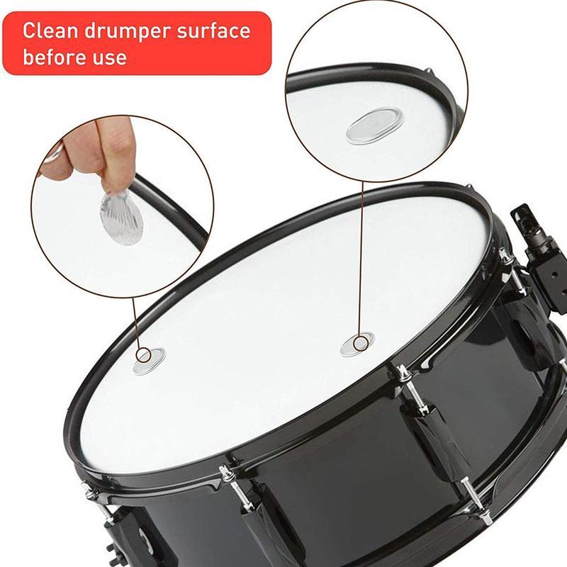 Pcs/set Silicone Self-adhesive Snare Drum Mute Pad Dumb Drum Demper Gel Pad Damping Pad Instrument Accessorie